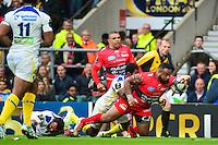 Essai Mathieu BASTAREAUD - 02.05.2015 - Clermont / Toulon - Finale European Champions Cup -Twickenham<br />Photo : Dave Winter / Icon Sport