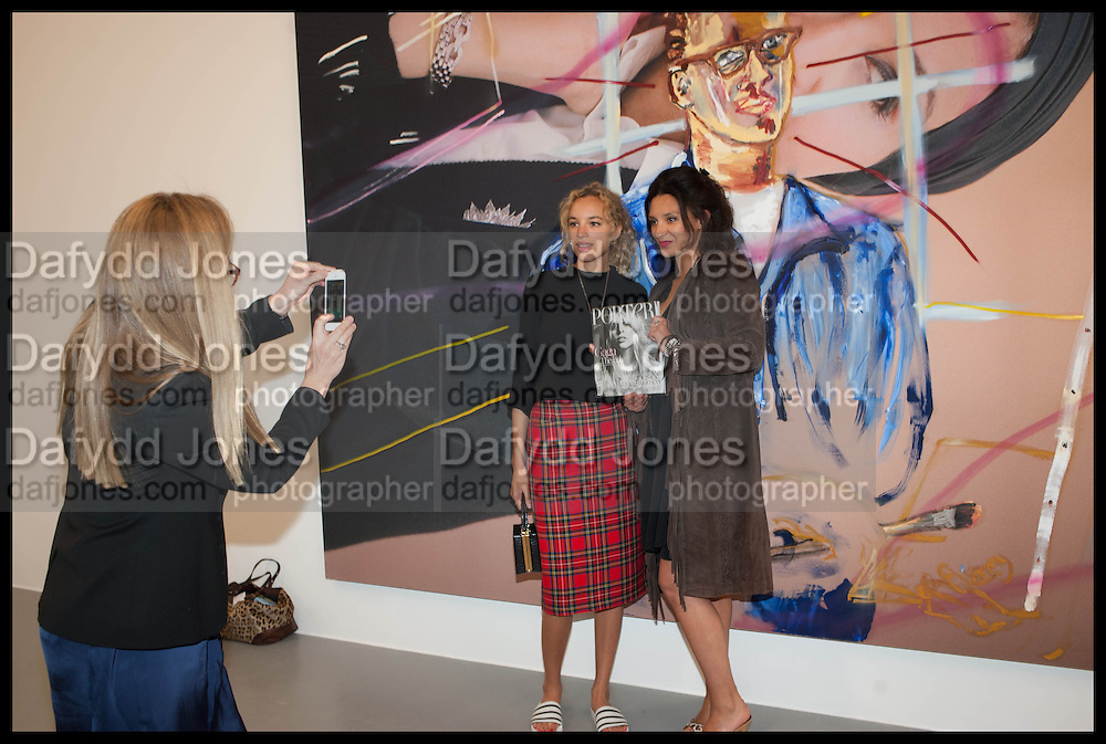 JO CRAVEN; PHOEBE COLLINGS-JAMES; DELILAH KHOMO, Frank Cohen and Nicolai Frahm host Julian Schnabel's 'Every Angel has a Dark Side,' private view and party. IN AID OF CHICKENSHED. Dairy Art Centre, 7a Wakefield Street, London. 24 APRIL 2014