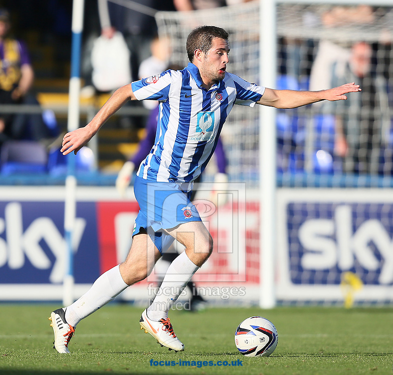 Picture by Paul Gaythorpe/Focus Images Ltd +447771 871632<br /> 28/09/2013<br /> Matthew Dolan of Hartlepool United during the Sky Bet League 2 match against Oxford United at Victoria Park, Hartlepool.