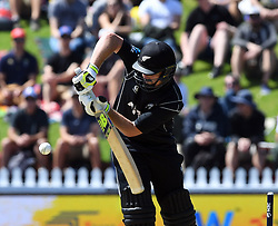 New Zealand's Colin Munro battting against Pakistan in the first one day cricket international at the Basin Reserve, Wellington, New Zealand, Saturday, January 06, 2018. Credit:SNPA / Ross Setford  **NO ARCHIVING**