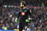 Derby County goalkeeper Scott Carson during the Sky Bet Championship match between Derby County and Milton Keynes Dons at the iPro Stadium, Derby, England on 13 February 2016. Photo by Jon Hobley.