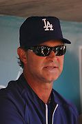 LOS ANGELES - JULY 24:  Manager Don Mattingly #8 of the Los Angeles Dodgers does a media interview before the game against the Washington Nationals at Dodger Stadium on Sunday, July 24, 2011 in Los Angeles, California. The Dodgers defeated the Nationals 3-1. (Photo by Paul Spinelli/MLB Photos via Getty Images) *** Local Caption *** Don Mattingly