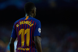 September 18, 2018 - Barcelona, Barcelona, Spain - Ousmane Dembele of FC Barcelona during the UEFA Champions League group B match between FC Barcelona and PSV Eindhoven at Camp Nou on September 18, 2018 in Barcelona, Spain  (Credit Image: © Sergio Lopez/NurPhoto/ZUMA Press)