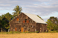 A barn with dilapidated siding south of San Luis, Pinar del Rio, Cuba.