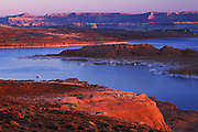 Lake Powell, view North at daybreak, Page, Arizona. ..Subject photograph(s) are copyright Edward McCain. All rights are reserved except those specifically granted by Edward McCain in writing prior to publication...McCain Photography.211 S 4th Avenue.Tucson, AZ 85701-2103.(520) 623-1998.mobile: (520) 990-0999.fax: (520) 623-1190.http://www.mccainphoto.com.edward@mccainphoto.com