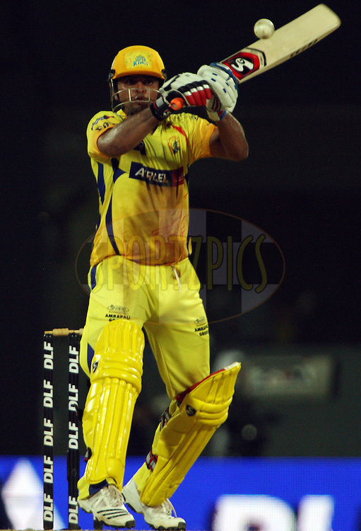 Suresh Raina during his half century in match 43 of the Indian Premier League ( IPL ) Season 4 between the Chennai Superkings and c held at the MA Chidambaram Stadium in Chennai, Tamil Nadu, India on the 4th May 2011..Photo by Jacques Rossouw/BCCI/SPORTZPICS .