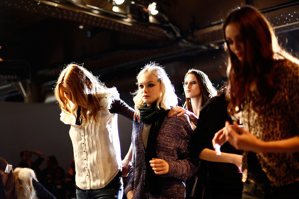 NEW YORK - FEBRUARY 15:  Atmosphere backstage at the  Zac Posen Fall 2010 during Mercedes-Benz Fashion Week at the Altman Building on February 15, 2010 in New York City.  (Photo by Joe Kohen/WireImage)