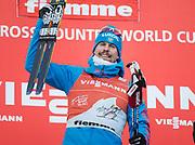 VAL DI FIEMME, ITALIEN - 2017-01-08: Sergey Ustiugov under herrarnas 9 km fristil jaktstart, den 8 januari, 2017 i Val di Fiemme, Italien.<br /> Foto: Nils Petter Nilsson/Ombrello<br /> ***BETALBILD***