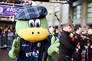 Lochie the Scotland mascot before the Autumn Test match between Scotland and Argentina at Murrayfield, Edinburgh, Scotland on 24 November 2018.