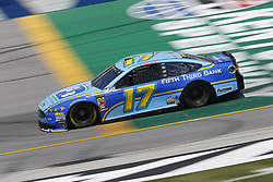 July 13, 2018 - Sparta, Kentucky, United States of America - Ricky Stenhouse, Jr (17) brings his race car down the front stretch during practice for the Quaker State 400 at Kentucky Speedway in Sparta, Kentucky. (Credit Image: © Chris Owens Asp Inc/ASP via ZUMA Wire)