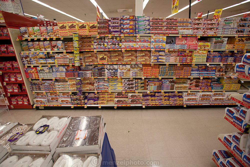 The snack section at Food City in the Appalachian coal mining area near Whitesburg, Kentucky.