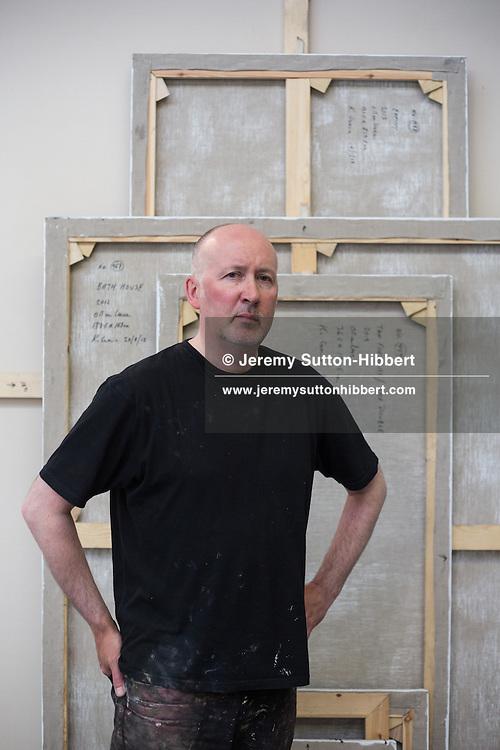 Ken Currie, artist, in his studio, in Glasgow, Scotland, Wednesday 10th July 2013.