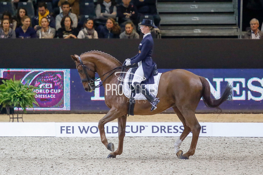 Fabienne Lütkemeier on D'Agostino FRH during the Equestrian FEI World Cup Dressage Lyon 2017 on November 2, 2017 at Eurexpo Lyon in Chassieu, near Lyon, France - Photo Romain Biard / Isports / ProSportsImages / DPPI
