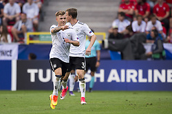 June 18, 2017 - Tychy, Poland - Max Meyer of Germany celebrates after his score during the UEFA European Under-21 Championship 2017 Group C match between Germany and Czech Republic at Tychy Stadium in Tychy, Poland on June 18, 2017  (Credit Image: © Andrew Surma/NurPhoto via ZUMA Press)