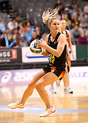 Magic wing attack Ariana Cable-Dixon in action during the ANZ Premiership netball match - Magic v Tactix played at Claudelands Arena, Hamilton, New Zealand on 30 July 2018.<br /> <br /> Copyright photo: &copy; Bruce Lim / www.photosport.nz