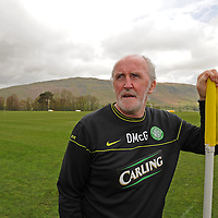 Celtic legend and part of the current coaching staff Danny McGrain at the club's training centre, Lennoxtown.