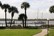 Jekyll Island Club boat dock and greenway.