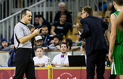 Referee Boris Krejic and Gasper Okorn, coach of Petrol Olimpija during basketball match between KK Ilirija and KK Petrol Olimpija in 10th Round of Nova KBM Basketball League 2017/18, on December 17, 2017 in Hala Tivoli, Ljubljana, Slovenia. Photo by Vid Ponikvar / Sportida