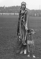 """H922 Aonach Tailteann Athletics - Croke Park. Pageant procession. """"Queen Tailte"""" Miss N. Rock 1928. (Part of the Independent Newspapers Ireland/NLI Collection)"""