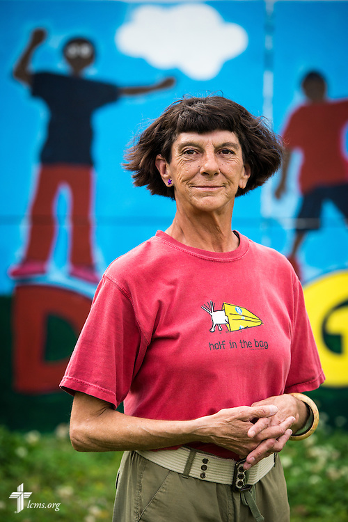 Portrait of Donna Lee Johnson, who serves as a volunteer in the Broadmoor Food Pantry adjacent to Gloria Dei Lutheran Church, on Wednesday, March 9, 2016, in New Orleans. Johnson, who is homeless in the community, came to the church four years ago. LCMS Communications/Erik M. Lunsford