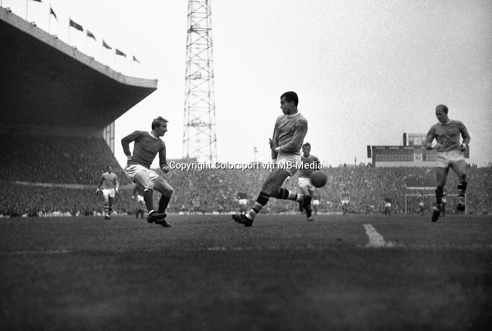 Football : Manchester United v Manchester City 17/09/1966..Dennis Law - United (left).Stan Horne - City (centre)