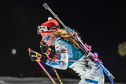 February 12, 2018 - Pyeongchang, Gangwon, South Korea - Marketa Davidova of Czech Republic competing at Women's 10km Pursuit, Biathlon, at olympics at Alpensia biathlon stadium, Pyeongchang, South Korea. on February 12, 2018. (Credit Image: © Ulrik Pedersen/NurPhoto via ZUMA Press)