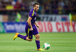 Agim Ibraimi #10 of Maribor during football match between NK Maribor and APOEL FC, (Cyprus) in Third qualifying round, Second leg of UEFA Champions League 2014, on August 6, 2013 in Stadium Ljudski vrt, Maribor, Slovenia. (Photo by Vid Ponikvar / Sportida.com)