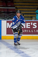 KELOWNA, CANADA - DECEMBER 30: Dante Hannoun #19 of the Victoria Royals warms up against the Kelowna Rockets on December 30, 2016 at Prospera Place in Kelowna, British Columbia, Canada.  (Photo by Marissa Baecker/Shoot the Breeze)  *** Local Caption ***