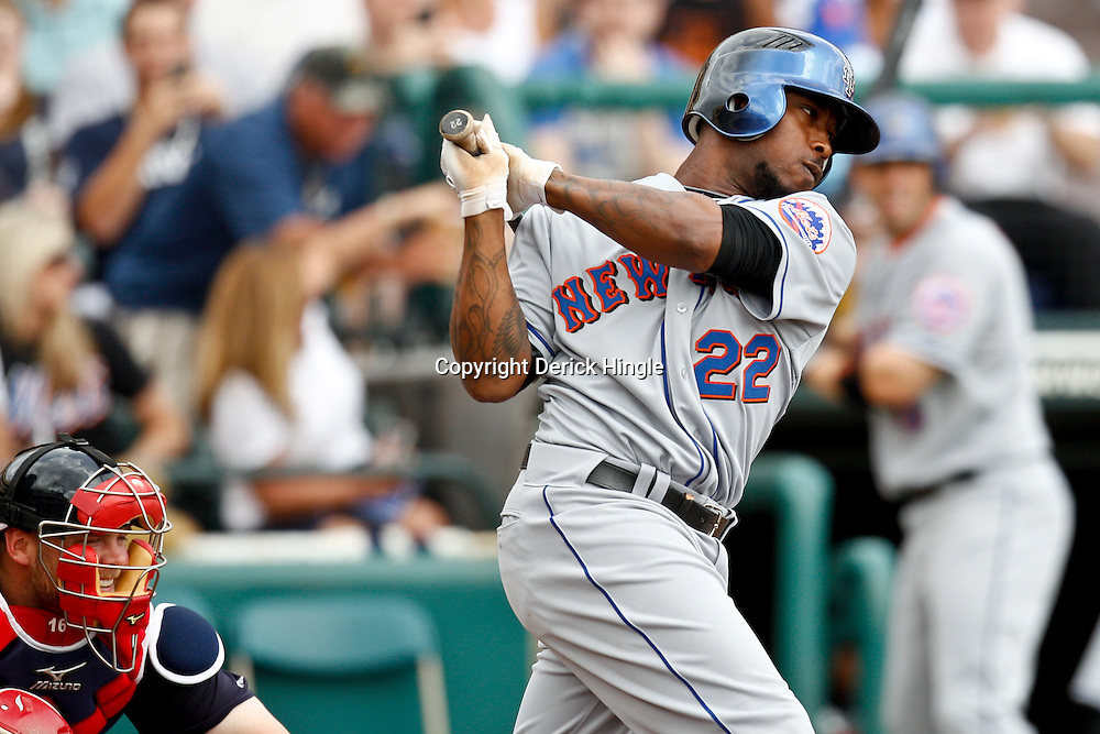 March 5, 2011; Lake Buena Vista, FL, USA; New York Mets OF Willie Harris (22) during a spring training exhibition game against the Atlanta Braves at Disney Wide World of Sports complex.  Mandatory Credit: Derick E. Hingle
