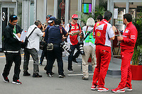 Kimi Raikkonen (FIN) Ferrari signs autographs for the fans.<br /> Japanese Grand Prix, Thursday 2nd October 2014. Suzuka, Japan.