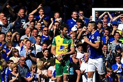 Everton's Kevin Mirallas celebrates after scoring his sides third goal  - Mandatory byline: Matt McNulty/JMP - 15/05/2016 - FOOTBALL - Goodison Park - Liverpool, England - Everton v Norwich City - Barclays Premier League