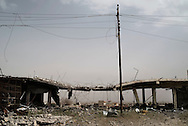 Iraq, Kurdistan: Destruction in the mainly inhabited by Yazidis people town of Sinjar. <br />
