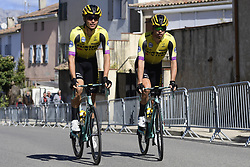 March 15, 2019 - Brignoles, France - BRIGNOLES, FRANCE - MARCH 15 : JANSEN Amund Grondahl (NOR) of TEAM JUMBO - VISMA and LINDEMAN Bert-Jan (NED) of TEAM JUMBO - VISMA pictured during stage 6 of the 2019 Paris - Nice cycling race with start in Peynier and finish in Brignoles  (176,5 km) on March 15, 2019 in Brignoles, France. (Credit Image: © Panoramic via ZUMA Press)