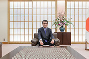 Tokyo, Japan, January 22 2018 - Portrait of Taro KONO at the Ministry of Foreign Affairs (MOFA) of Japan. Mr KONO is a member of the House of Representatives, and has served as Minister for Foreign Affairs since a Cabinet re-shuffle by Prime Minister Shinzo Abe on 3 August 2017. He belongs to the Liberal Democratic Party.