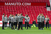 The Burton Albion squad arrive at Old Trafford before the EFL Cup match between Manchester United and Burton Albion at Old Trafford, Manchester, England on 19 September 2017. Photo by Richard Holmes.