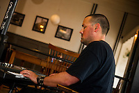 Wednesday Jazz Night with Jonathan Lorentz at the Wayfarer downtown Laconia.  (Karen Bobotas/for the Laconia Daily Sun)