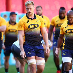 Jean-Luc du Preez of South Africa during the South African - Springbok Captain's Run at Emirates Airline Park,<br /> Johannesburg .South Africa. 08,06,2018 Photo by (Steve Haag Sports)