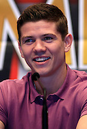 Picture by Richard Gould/Focus Images Ltd +447814 482222.24/04/2013.Luke Campbell is happily talking about his 1st big fight in Hull at his Press Conference at Hull City Hall, Hull.