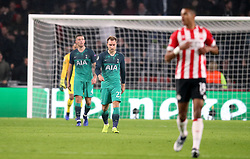 Tottenham Hotspur's Christian Eriksen appears dejected after PSV Eindhoven's Luuk de Jong (not in picture) scores his side's second goal of the game