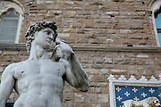 Michelangelo's David, outside Palazzo Vecchio, Florence, Italy, Florence, Italy
