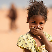 A young girl at the Mbera refugee camp for Malian refugees in Mauritania on 2 March 2013.