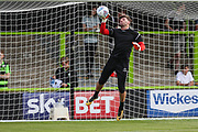 Forest Green Rovers goalkeeper James Montgomery warming up during the Pre-Season Friendly match between Forest Green Rovers and Leeds United at the New Lawn, Forest Green, United Kingdom on 17 July 2018. Picture by Shane Healey.
