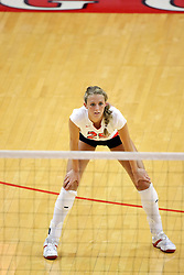 25 AUG 2007: Redbirds Mallory Leggett. By a score of 3 games to 1,  Illinois State University Redbirds defeated the Redhawks of Miami of Ohio at Redbird Arena on the campus of Illinois State University in Normal Illinois.