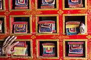 China, Tibet. Yundrungling monastery.  A TIbetan Bonpo monastery.