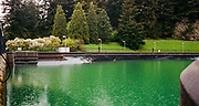 Rain falls on Reservoir 5 in Mout Tabor Park, Portland, Oregon, USA. Kodak Portra 400, Nikon LW Nikkor 28mm f/2.8, Nikonos-V.
