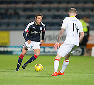 Dundee&rsquo;s Danny Williams and Partick Thistle&rsquo;s Christie Elliot - Dundee v Partick Thistle in the Ladbrokes Scottish Premiership at Dens Park, Dundee. Photo: David Young<br /> <br />  - &copy; David Young - www.davidyoungphoto.co.uk - email: davidyoungphoto@gmail.com