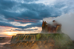 """Fly Geyser Sunrise 2"" - Photograph of the famous man made Fly Geyser shot at sunrise."