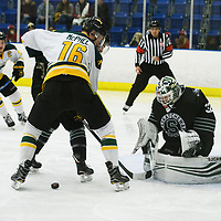 4th year forward Zach McPhee (16) of the Regina Cougars in action during the Men's Hockey Shine On Game on December 2 at Co-operators arena. Credit: Arthur Ward/Arthur Images