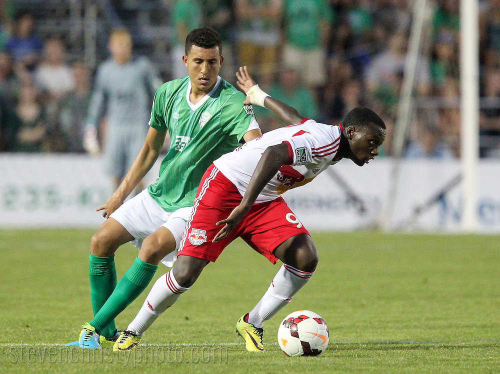 May 31, 2014: The OKC Energy FC play the New York Red Bulls Reserves in a USL Pro - MLS Reserves inter league game at Pribil Stadium in Oklahoma City, Oklahoma.