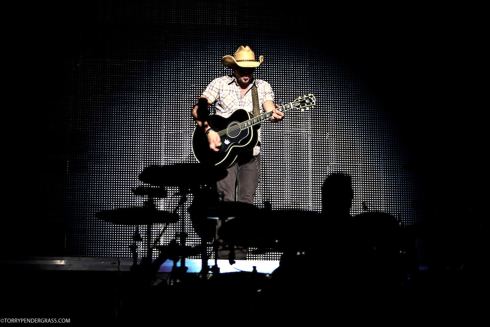 "Jason Aldean performs on April 6, 2011 in support of ""My Kinda Party"" at Agua Caliente Casino in Rancho Mirage, California"